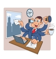 Busy businessman at office 2 vector image