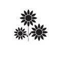 buttercup black concept icon buttercup vector image vector image