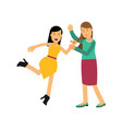 cartoon angry woman character in yellow dress vector image