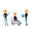 cartoon rock and roll girl character set vector image