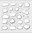 cartoon thought bubble set comic empty talk and vector image vector image