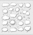 cartoon thought bubble set comic empty talk vector image vector image