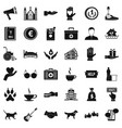 charity icons set simple style vector image vector image