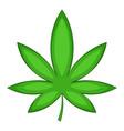 chestnut leaf icon cartoon style vector image vector image
