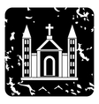 Church christian icon grunge style vector image vector image