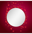 circle valentine background vector image vector image