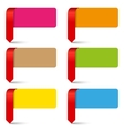 color empty pointers collection vector image vector image
