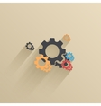 creative flat ui icon background Eps 10 vector image