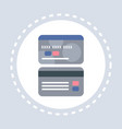 credit card front and back shopping icon money vector image