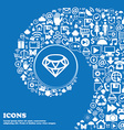 Diamond Icon sign Nice set of beautiful icons vector image vector image