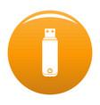 digital flash drive icon orange vector image vector image