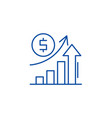 economic growth line icon concept economic growth vector image vector image