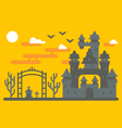 Flat design creepy castle vector image vector image