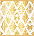 flower rhombus damask abstract metallic gold foil vector image