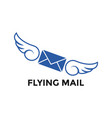 flying mail graphic icon design template vector image