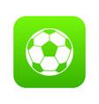 football soccer ball icon digital green vector image vector image