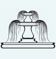 Fountain in the style of renaissance vector image vector image