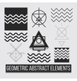 Geometric abstract design elements vector image vector image