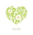 green and golden garden silhouettes heart vector image