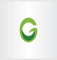 green logo letter g or o go logotype icon vector image