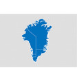 greenland map - high detailed blue map with vector image vector image