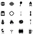 grill icon set vector image