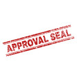 grunge textured approval seal stamp seal vector image