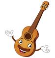 guitar cartoon vector image vector image