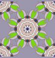 hand drawn colored mandala seamless pattern vector image