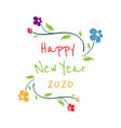 happy new year 2020 on white background vector image vector image