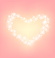 heart abstrack sparkling frame pink background vector image vector image