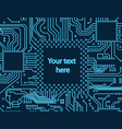 high tech electronic circuit board vector image vector image