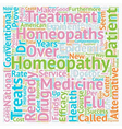 Homeopathy Which Way Now text background wordcloud vector image vector image