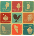 ice cream labels vector image vector image