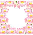 indian lotus border vector image vector image