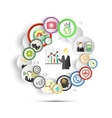 Infographic with icons for business vector image vector image
