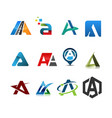 initial letter a logo set vector image vector image