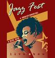 jazz festival retro poster vector image