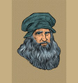 leonardo da vinci italian painter inventor and vector image