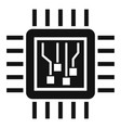 machine learning processor icon simple style vector image vector image