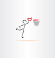 man playing basketball icon vector image