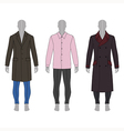 mans gray silhouette figure in a coat shirt vector image vector image
