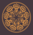Ornamental floral pattern with many details vector image