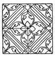 painting pattern is an italian renaissance design vector image vector image