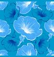 petunia flower seamless pattern flowers vector image