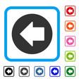 previous arrow framed icon vector image