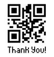 qr code sample with text thank you vector image vector image