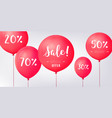 red baloons discounts sale concept icons for shop vector image vector image