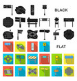 road junctions and signs flat icons in set vector image vector image