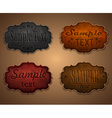 Set leather labels vector image vector image